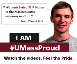Peter is UMass Proud
