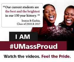 Jessica and Kashia are UMass Proud
