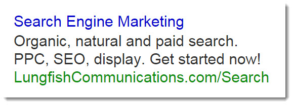 PPC Text Ad Example